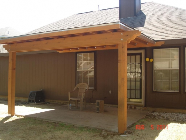 Wood Patio Covers & Fencing Argyle TX | Dallas-Fort Worth ... on Patio Cover Ideas Wood id=20144