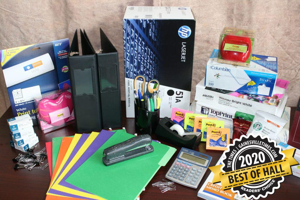 Voted Best of Hall '20 for Office Supplies