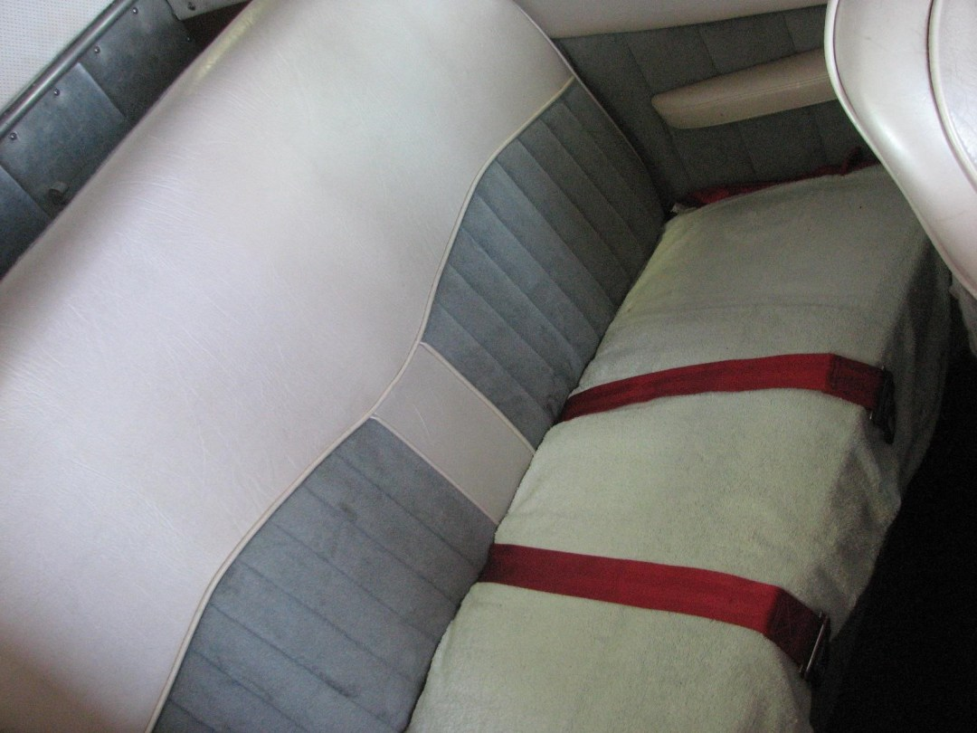 1947 BEECHCRAFT A35 BONANZA rear seats view from wing