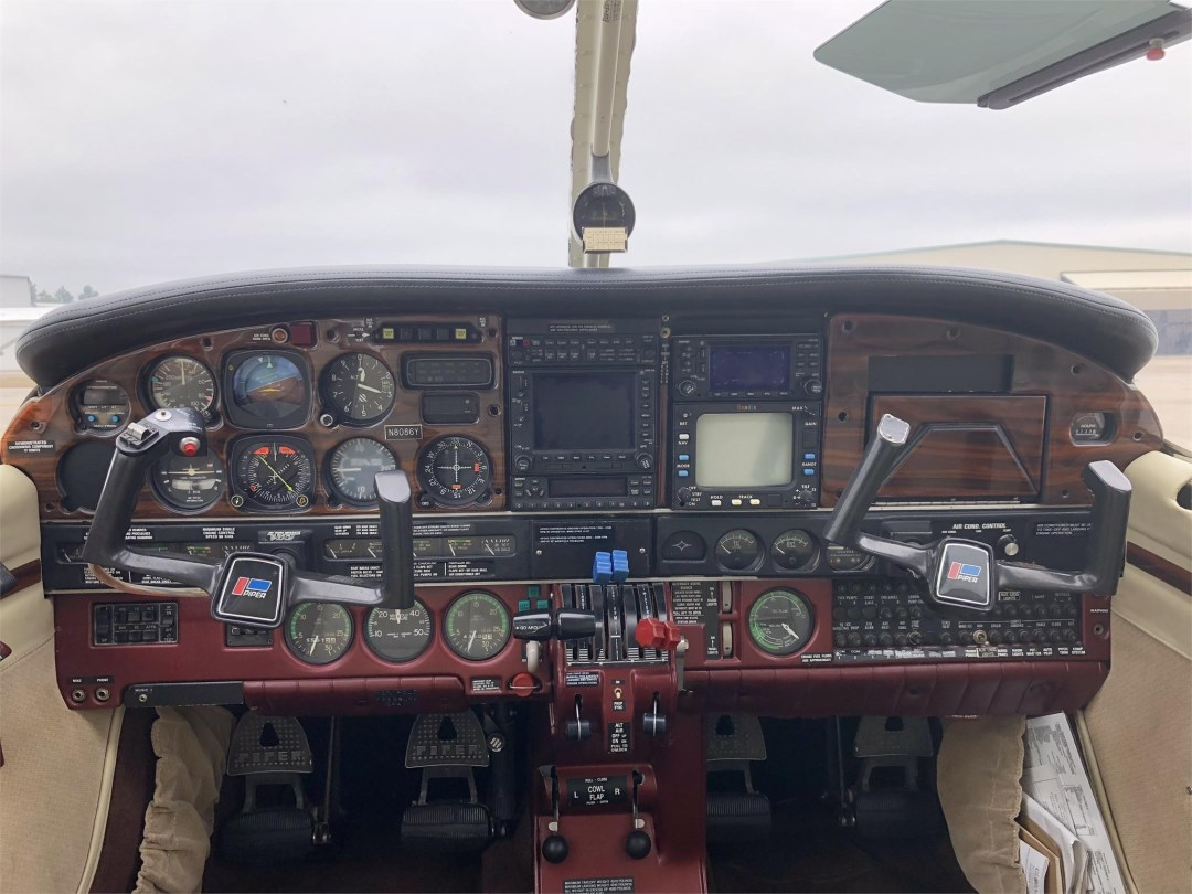 1979 PIPER SENECA II forward view of entire instrument panel