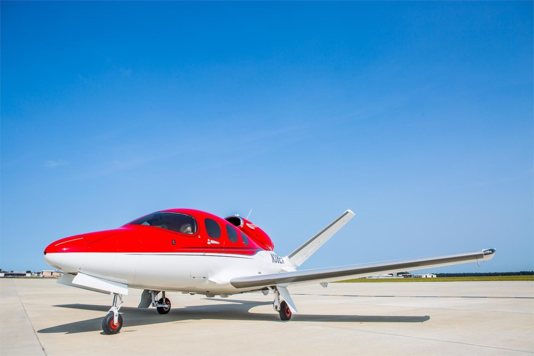 Cirrus SF50 Jet on ramp