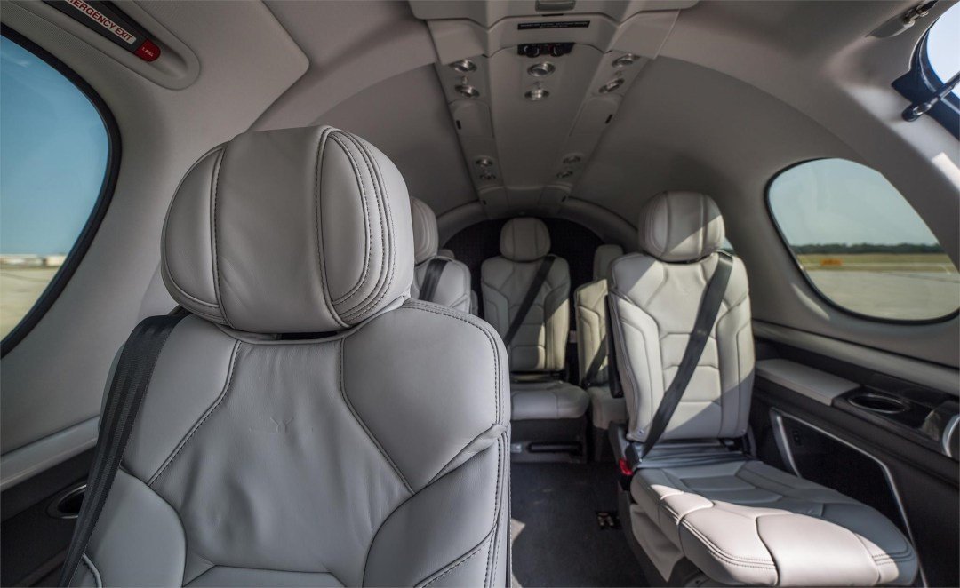 Cirrus Vision Jet SF50 Interior from front seats