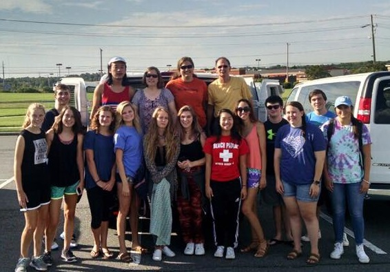 The group posed for a picture before leaving the church this week.