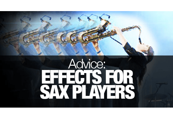 How can I add effects to my sax sound?