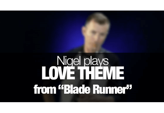 """Love Theme from """"Blade Runner"""" played on saxophone"""