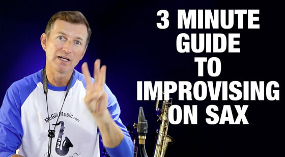 3 Minute Guide to Improvising on Saxophone