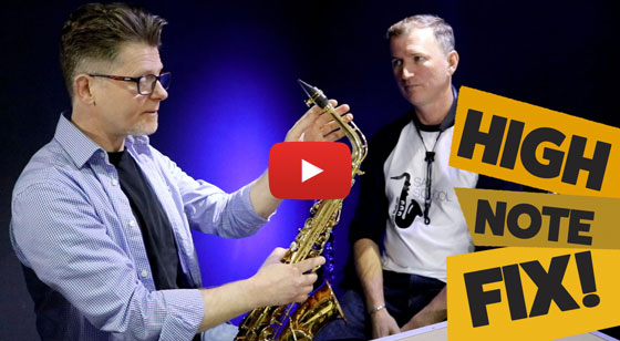 Here's how to fix high notes on sax.