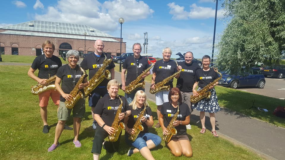 Sax School members go to Music Camp