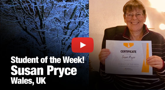 Susan Pryce – Student of the Week!