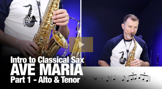 Ave Maria – Learn how to play on saxophone today