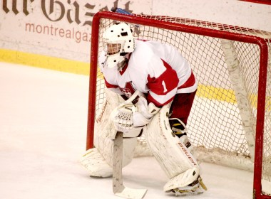 Hubert Morin will graduate after three years as the Redmen starting goalie. (Wendy Chen / McGill Tribune)