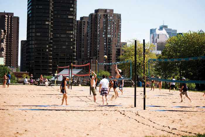 parc jeanne mance milton parc volleyball
