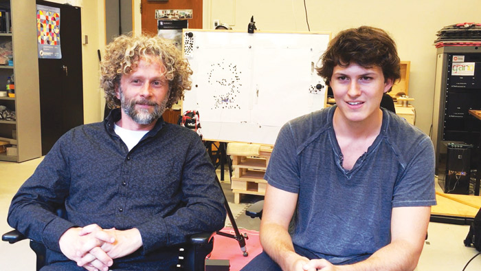Computer Science Professor Paul Kry and Brendan Galea, a McGill Master of Science student . (Computer Animation and Interaction Capture Lab)