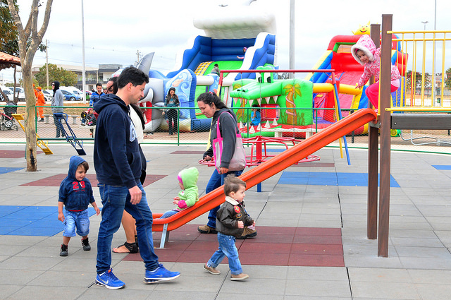 Criançada se diverte na inauguração do parque vivencial do Jardim Botânico 3
