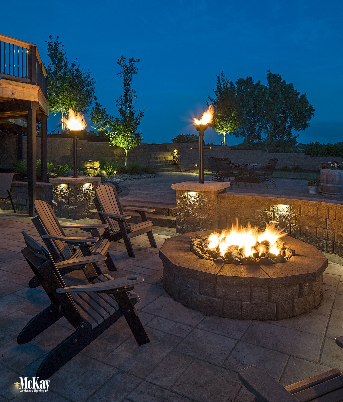outdoor fire pit lighting ideas and