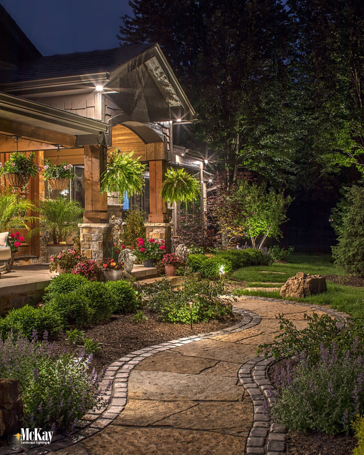 front entrance path lighting ideas for