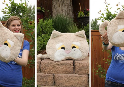 Cosmo the cougar pillow