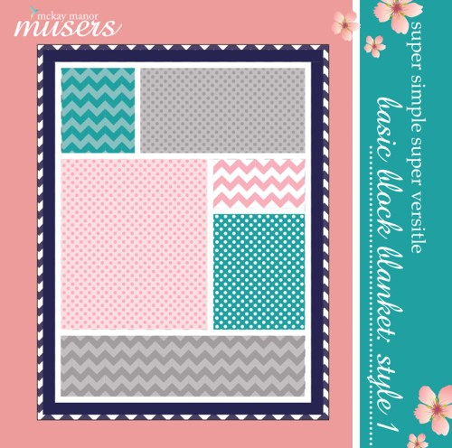 Basic block blanket: style 1 front cover