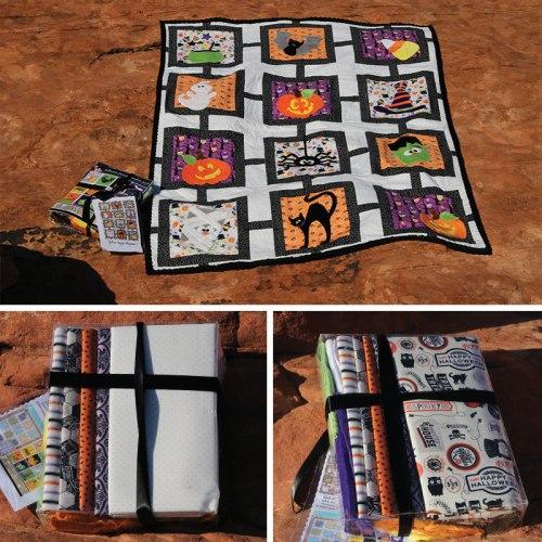 Halloween lattice quilt and kit