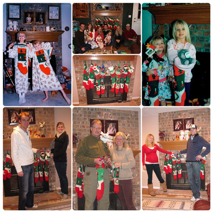Hanging our stockings on Christmas Eve