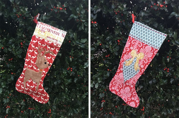 Stockings with appliques