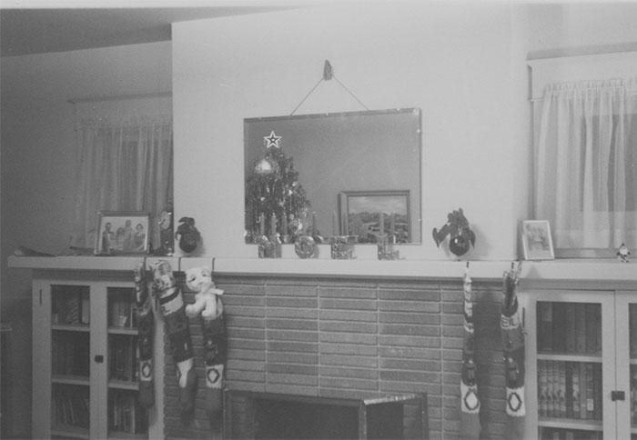 The five original Johnson family Christmas Stockings