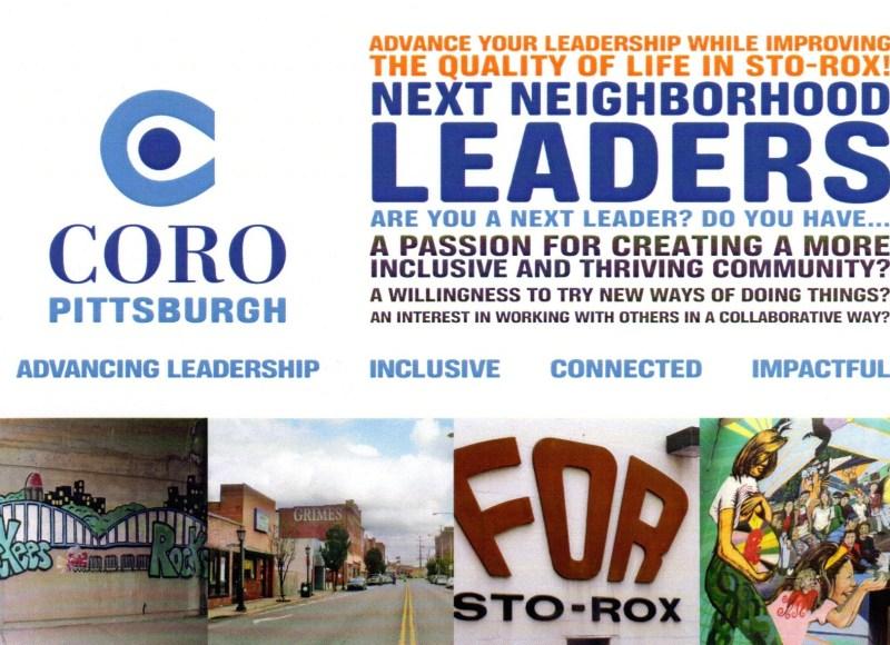 Coro Pittsburgh Next Neighborhood Leaders postcard.