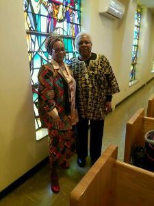 Marlene Banks and Robert L. Banks Sr. at church.