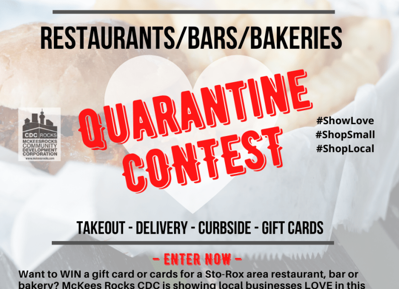 Quarantine Contest. Enter to win Sto-Ro area restaurant, bar, and bakery gift cards.