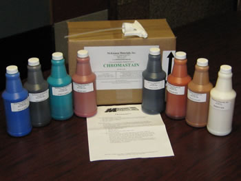 A chromastain sample kit is available.