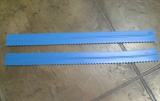"""Squeege blade, 24"""", 10 mil or 20 mil Double-Sided Notched Refill"""