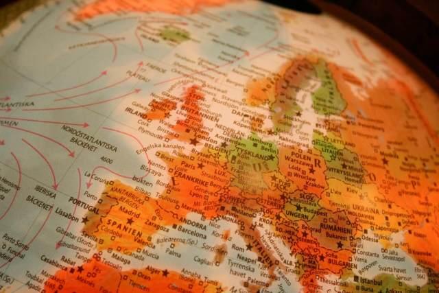 kaart Europa onzinnige feitjes over mij