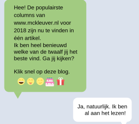12 keer populaire column text message