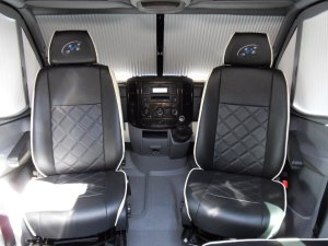 sprinter sporthome swivel cab seats in leather