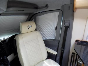 Mercedes motorhome remis cab blinds