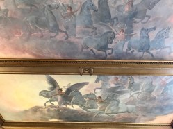 One of the ceiling murals in the library