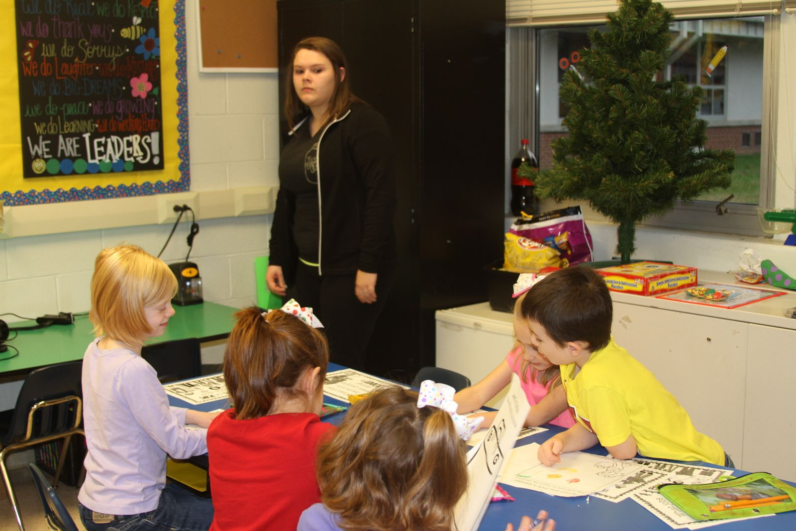 High School Students Teach Elementary Students About