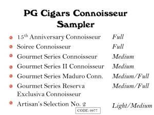 PG Sampler Connoisseur