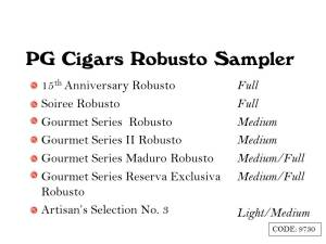 PG Sampler Robusto