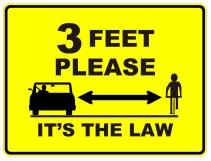 3 Feet Please