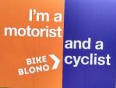 Bike BloNo Motorist and Cyclist Yard Sign