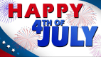 Happy 4th of July with fireworks