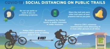social distance on public trails