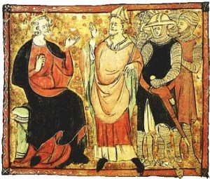 Picture of St. Thomas Becket with King Henry II--5th Day of Christmas