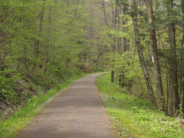 Oil Creek Bike Trail near Drake Well