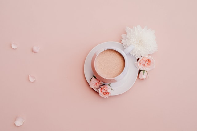 Picture of a punch-cup on pink background