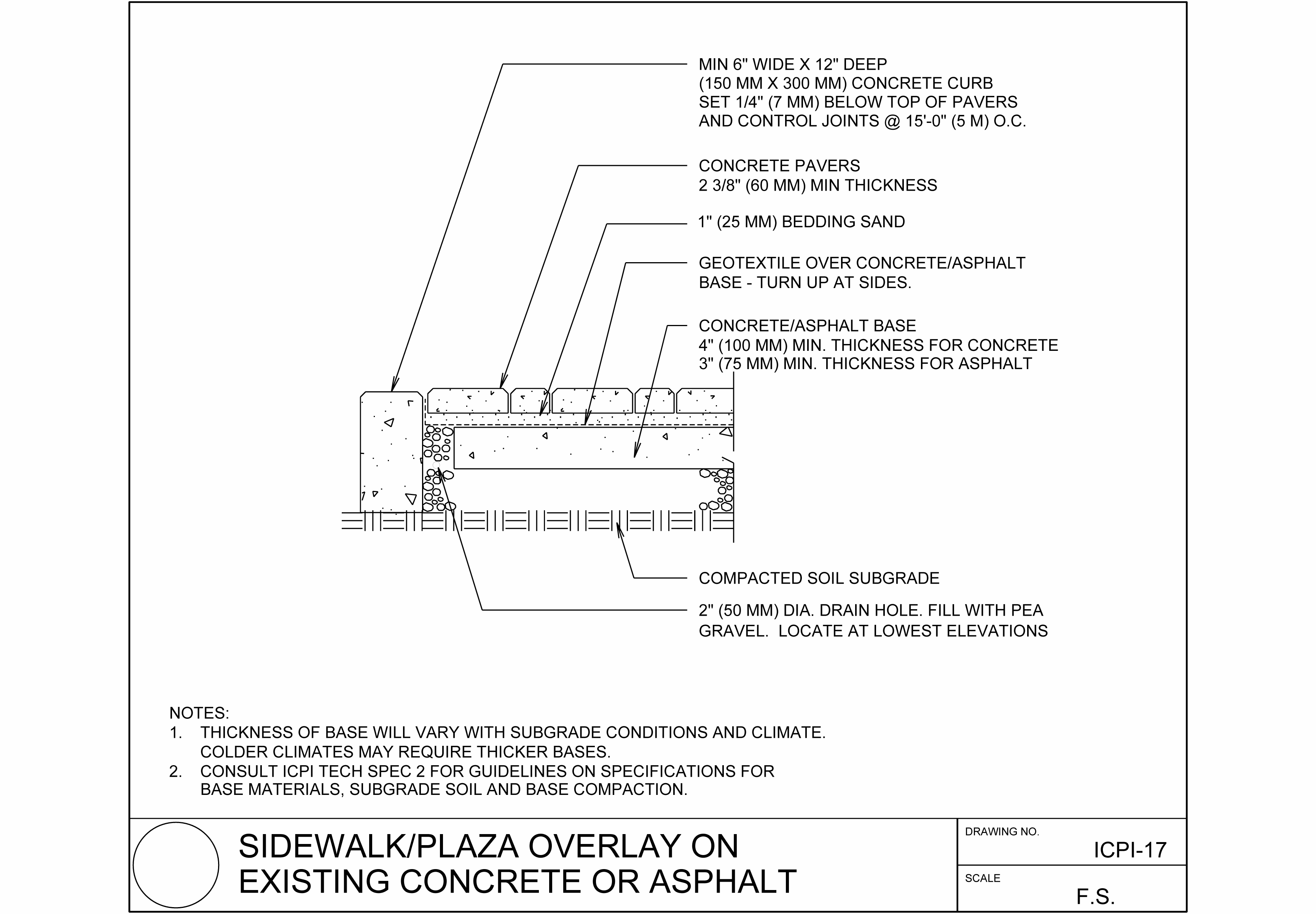Asphalt Curb Detail Drawing