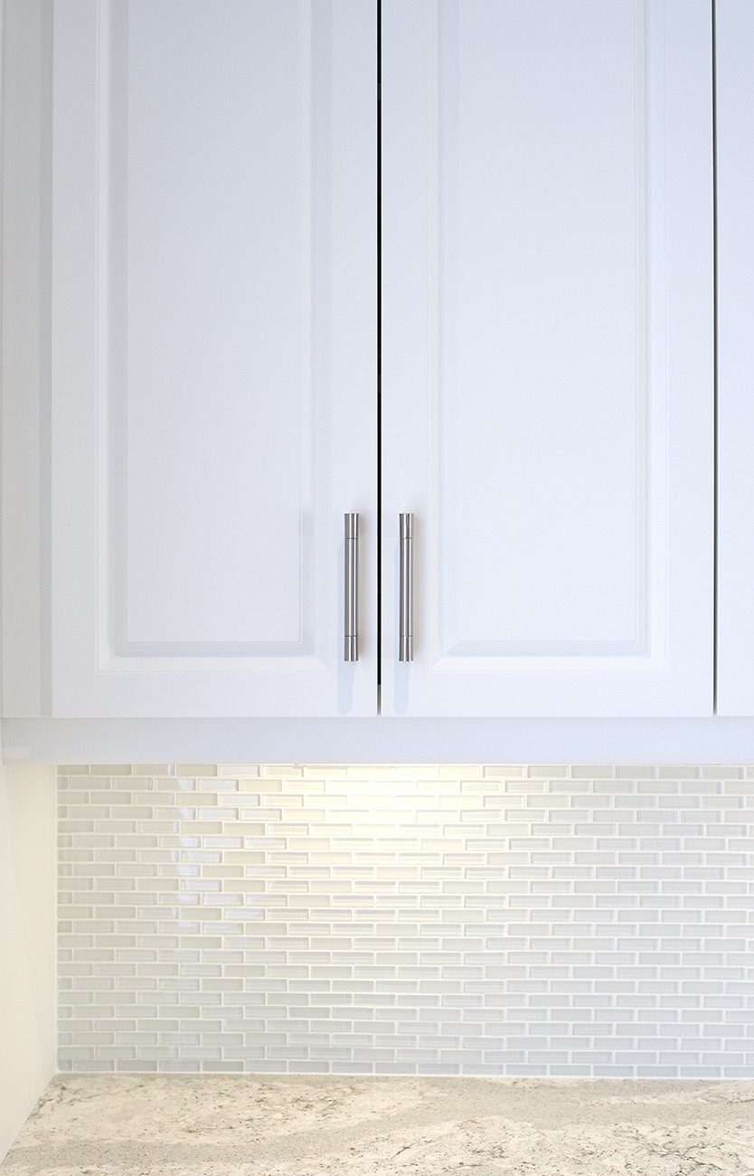 White Upper Cabinetry detail shot