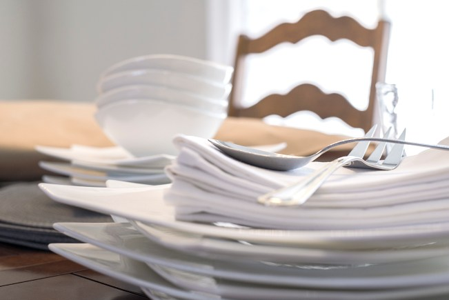 Dishes On Table Crop 1