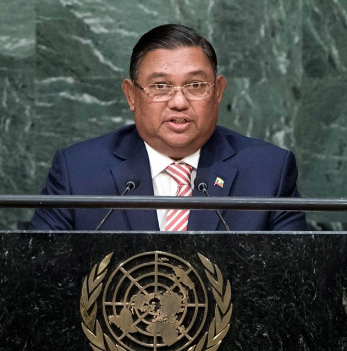 Wunna Maung Lwin, Minister for Foreign Affairs of Myanmar, addresses the general debate of the General AssemblyÕs seventieth session.